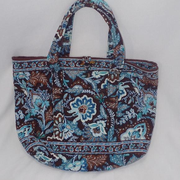 d960b4b83 Vera Bradley Mod Paisley Handbag Aqua Blue & Brown.  M_5b67be6ea31c3383d9aaf864